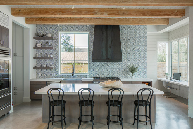 Transitional Kitchen by 3 Fold Design Studio