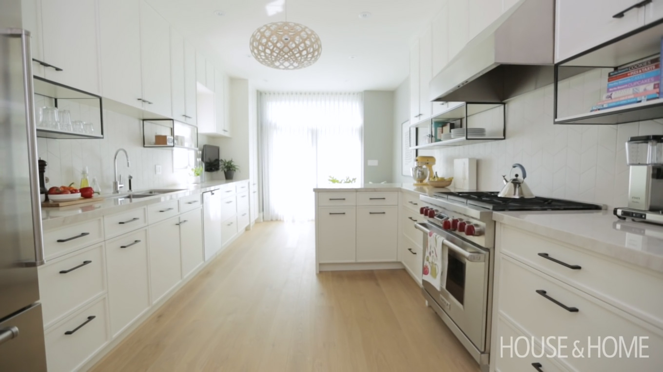 This Modern White Kitchen Has A Surprising Detail